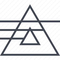 connect, lines, triangle icon