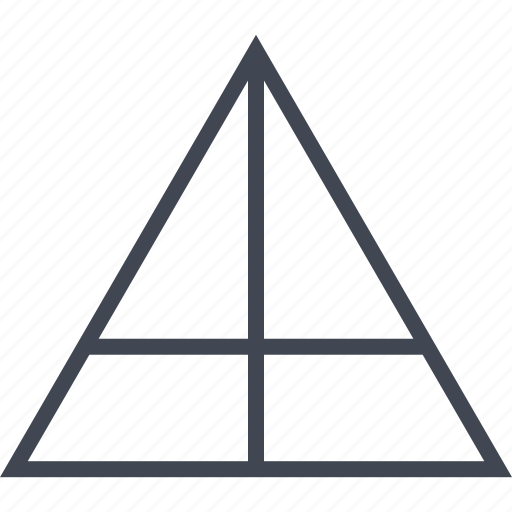 cross, line, shape, triangle icon