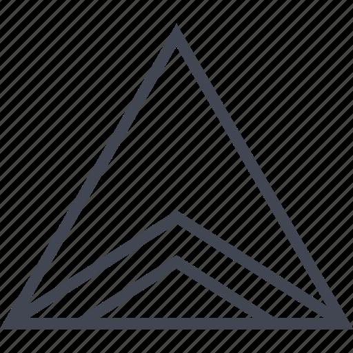 creative, shape, triangle icon