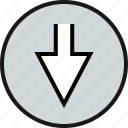 arrow, double, down, point icon