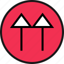 arrow, double, point, up icon