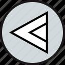 arrow, left, point