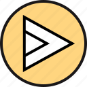 arrow, point, right icon