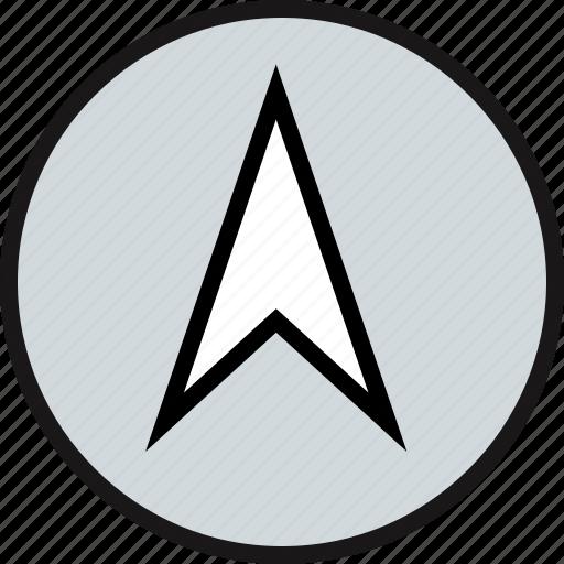 arrow, gps, point, up icon