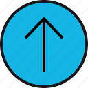 arrow, point, sleek, up icon
