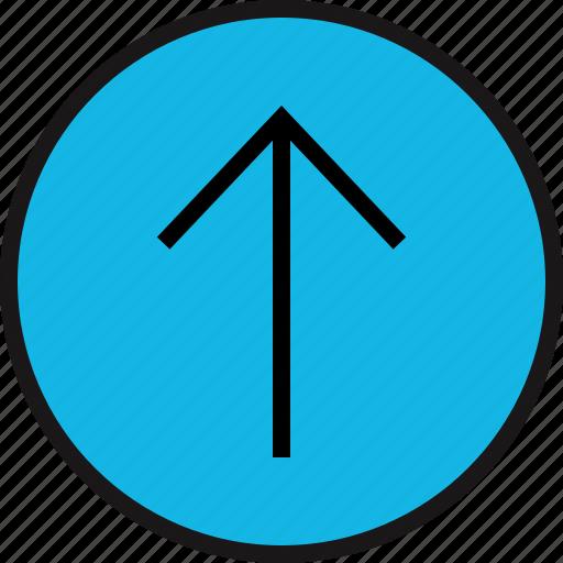 arrow, point, sleek, up icon