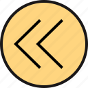 arrow, back, pointing icon