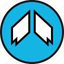 arrow, direction, high, up icon