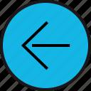 arrow, direction, left