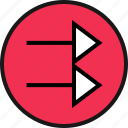 arrow, direction, double, right icon