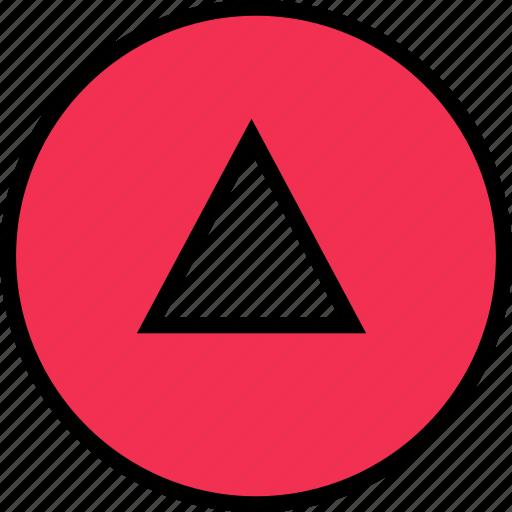 arrow, direction, down, triangle icon