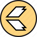 arrow, back, direction, exit icon