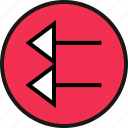 arrow, exit, pointing icon