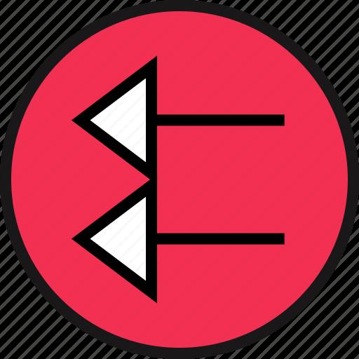 arrow, exit, pointing icon