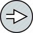 arrow, go, next, pointing icon