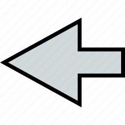 arrow, direction, point, rewind icon
