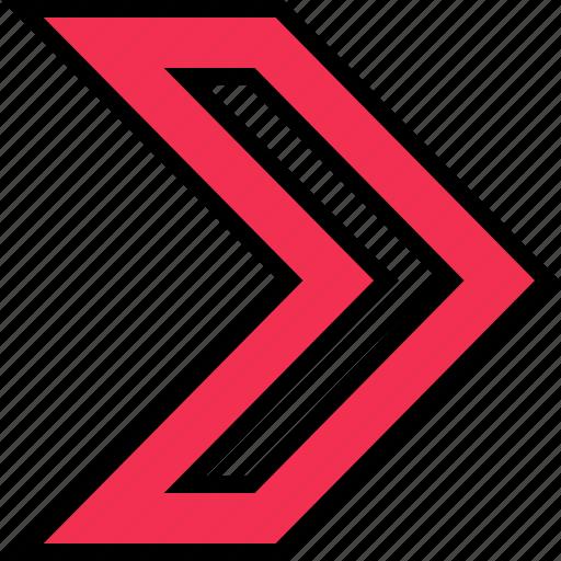 arrow, go, point, sharp icon