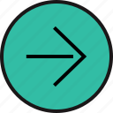 arrow, point, right, sleek icon