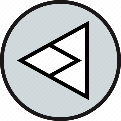 arrow, back, pointing, triangle icon