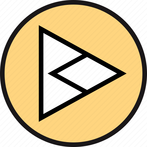arrow, pointing, right, triangle icon