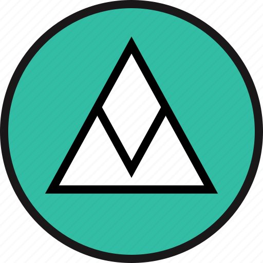 arrow, pointing, triangle, up icon
