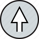arrow, direction, high, up