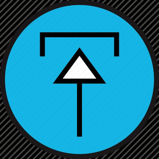 arrow, pointing, upload icon