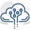 cloud, data, technology icon