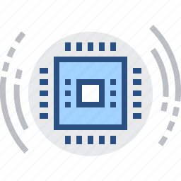 chip, core, electronics, processor, technology icon