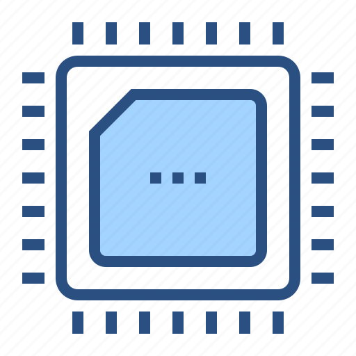 chip, cpu, electronics, processor, technology icon
