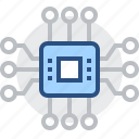 chip, component, electronic, electronics, processor, technology icon
