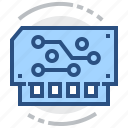 board, electronics, module, schem, technology icon