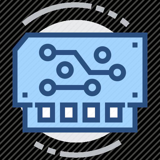 board, electronics, module, schem, technology icon