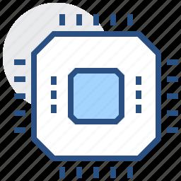 chip, electronics, processor, technology icon