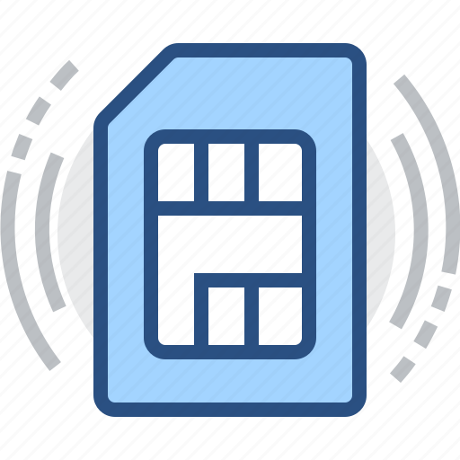 card, chip, mobile, sim, technology icon