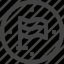 abstract, banner, circle, ensign, flag, mark, pin