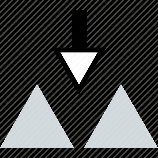 abstract, arrow, creative, design icon