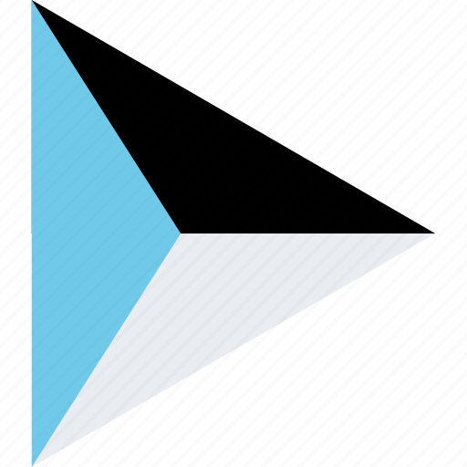 abstract, arrow, right icon