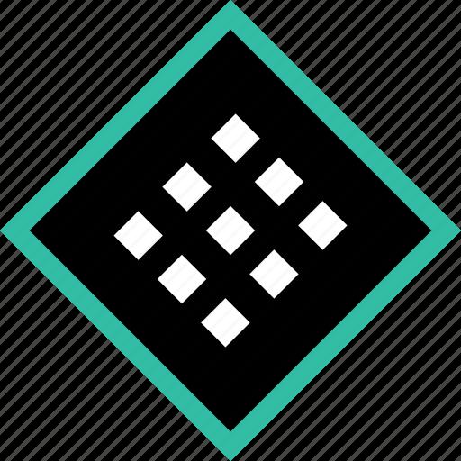 center, design, dots icon