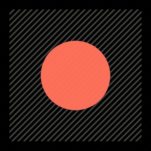 abstract, center, dot icon