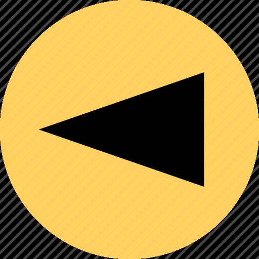 back, cone, left icon