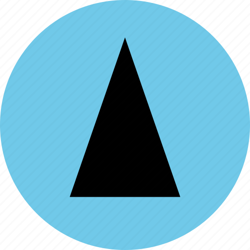 abstract, cone, design, up icon