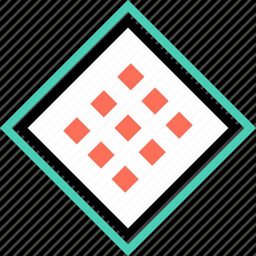 cube, design, dots icon
