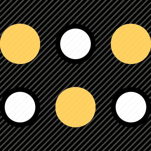 abstract, creative, design, dots icon