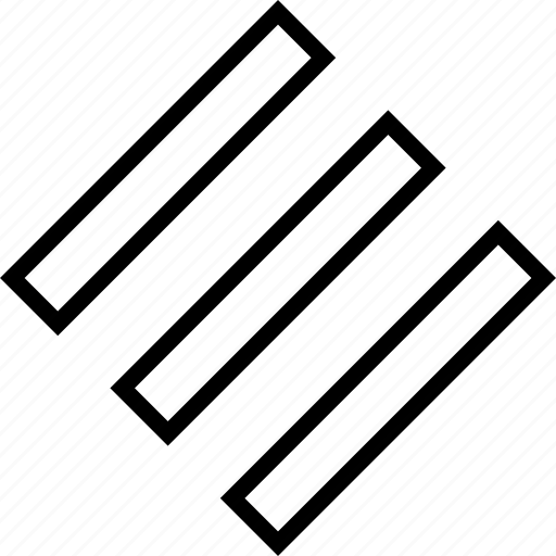 abstract, lines, three icon