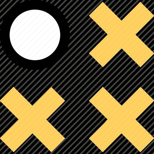 abstract, creative, three, x icon