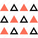 abstract, assorted, triangles icon
