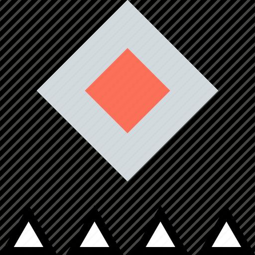 creative, cube, triangles icon