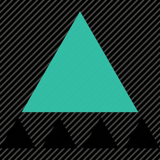 creative, triangles, up icon