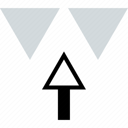 abstract, arrow, up icon